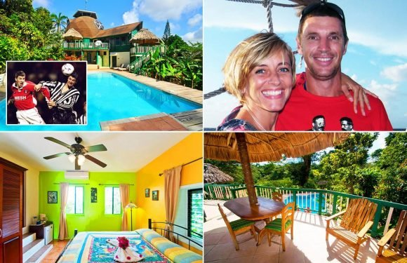 Andy Hunt: Ex-West Brom, Newcastle and Charlton striker now owns a luxury five-star holiday resort in a tropical jungle in Belize