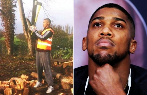 Anthony Joshua posts snap carrying out community service seven-years ago after drug dealing rap ahead of Joseph Parker clash