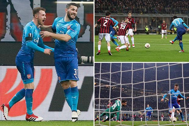 AC Milan 0 Arsenal 2: Gunners end losing streak in style thanks to first half goals from Henrikh Mkhitaryan and Aaron Ramsey