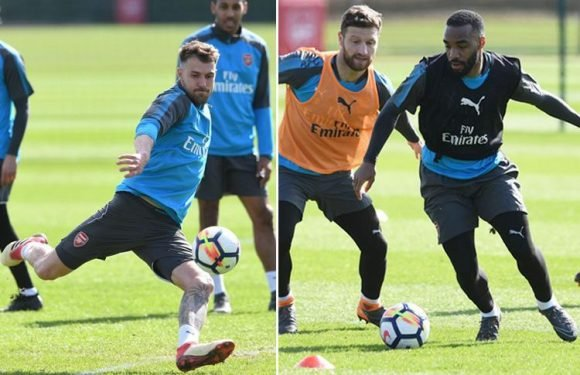 Arsenal in huge boost as Alexandre Lacazette and Aaron Ramsey return to first-team training after surgery