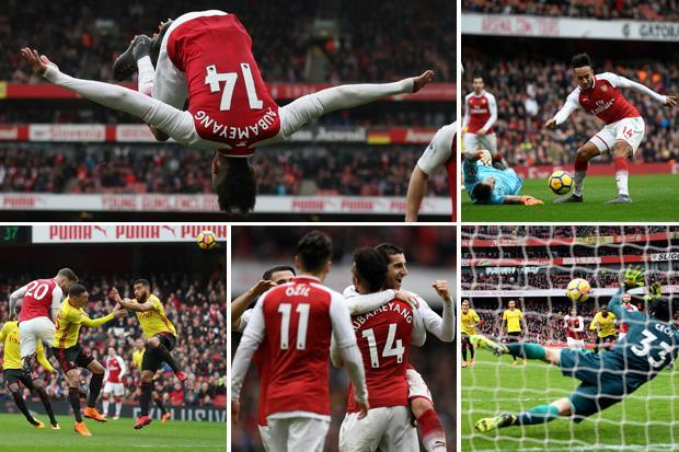 Arsenal 3 Watford 0: Mustafi and Aubameyang with the goals for Gunners to seal first win in four league games