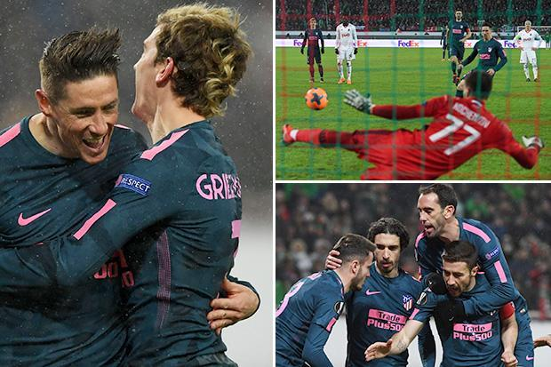 Lokomotiv 1 Atletico Madrid 5 (agg 1-8): Fernando Torres bags two and Antoine Griezmann hits stunner in Moscow rout