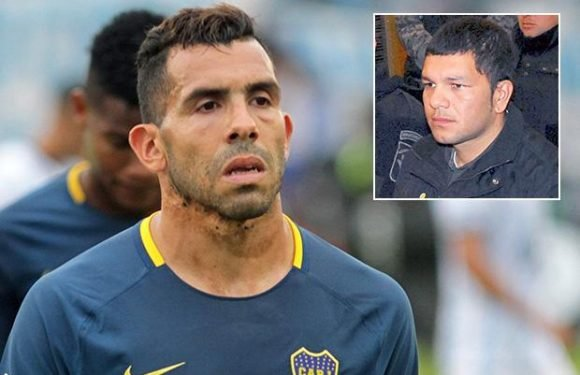 Ex-Man United and City star Carlos Tevez injured playing football in PRISON kickabout after visiting brother in jail