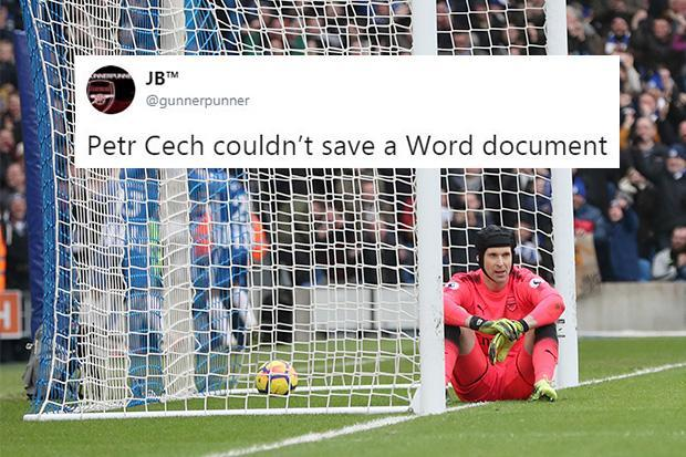 Arsenal fans tear into Petr Cech on Twitter as Brighton take an early-two goal lead in Premier League clash – The Sun