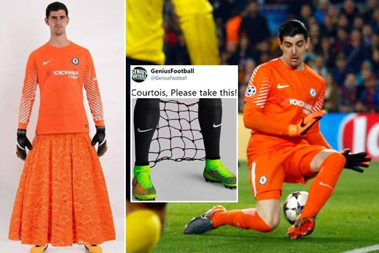 Chelsea star Thibaut Courtois slammed on social media after horror show in Barcelona demolition, as stats show he's the worst English goalkeeper in the Champions League this season