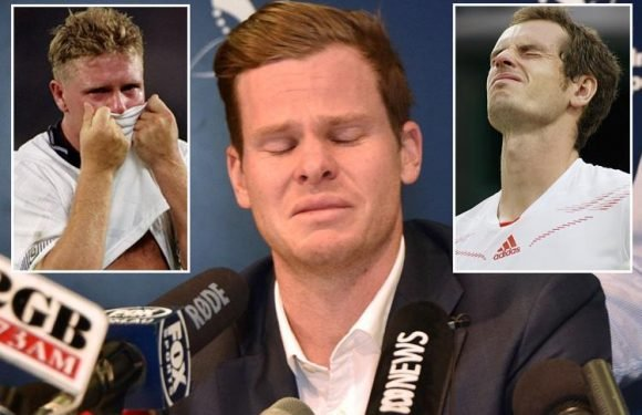 Steve Smith broke down in tears as he apologised for Australia's cheat shame… but he's by no means the first sobbing star