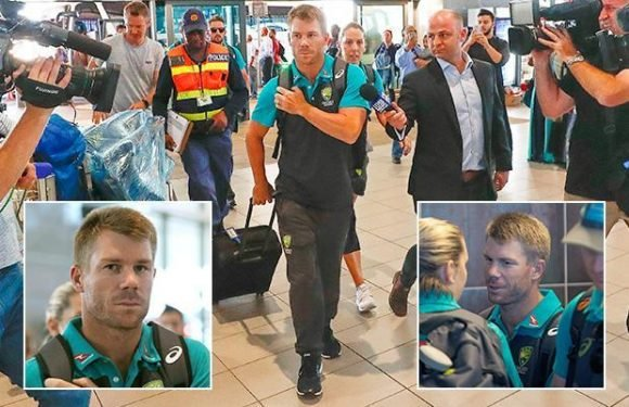 David Warner 'removes himself from Australia's WhatsApp group as team-mates urge to boot him out of Cape Town hotel after swilling champagne in bar'