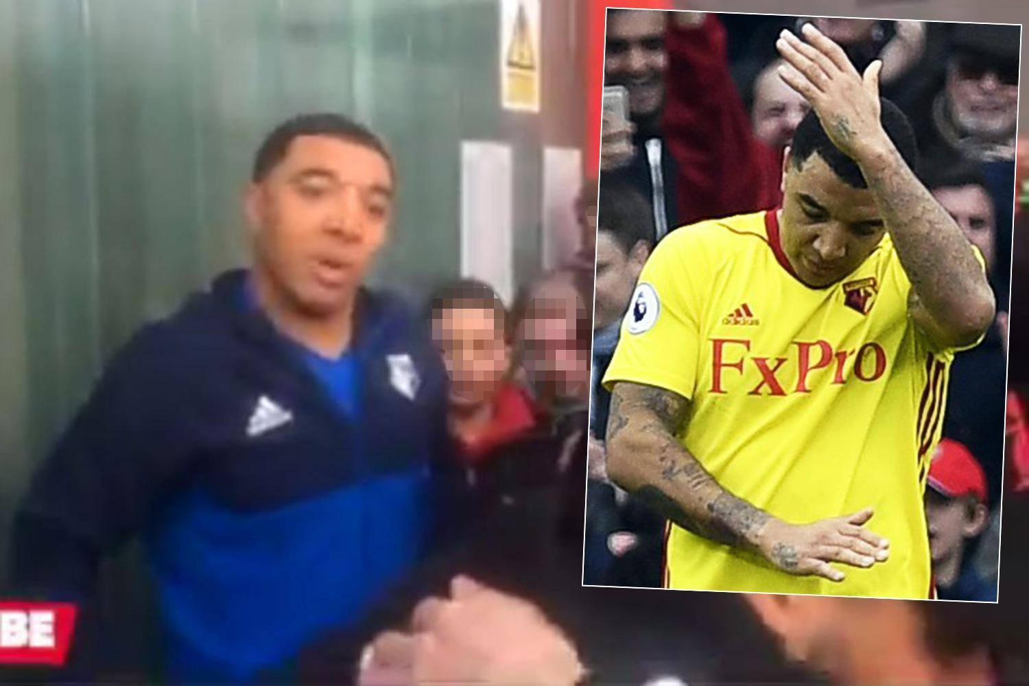 Troy Deeney tells Arsenal fan 'my cojones are as big as yours' after missing crucial penalty in Watford's defeat at the Emirates