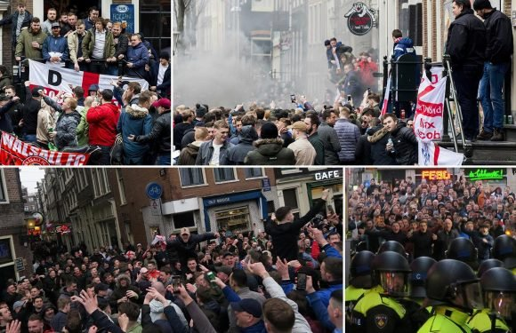 Cops confirm 100 England fans were arrested ahead of Three Lions win over Netherlands with several being held for 'assaulting officers'