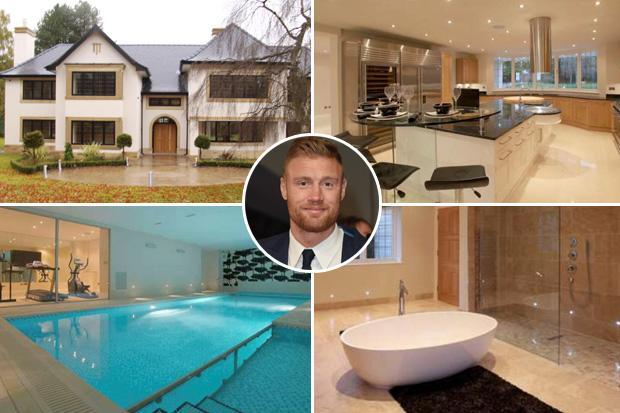 England cricket legend Andrew Flintoff sells seven-bedroom luxury mansion he has never lived in for £3m profit… to Manchester City ace Benjamin Mendy