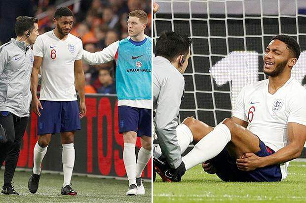 Liverpool dealt huge blow as star defender Joe Gomez withdrawn after just ten minutes for England against Holland