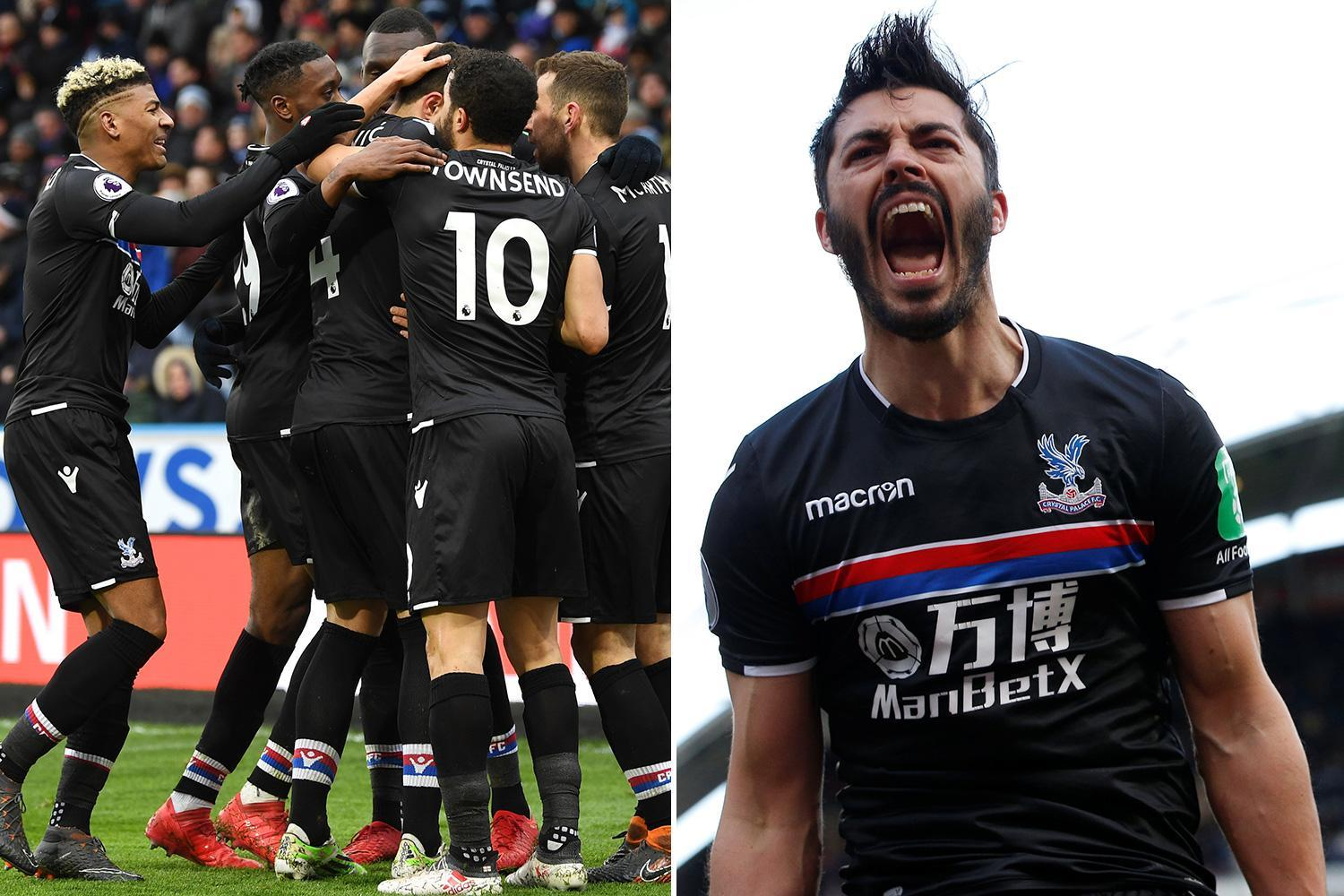 Huddersfield 0 Crystal Palace 2: Roy Hodgson's side jump out out of relegation zone thanks to goals from James Tomkins and Luka Milivojevic