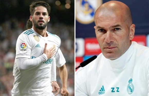 Zinedine Zidane insists Isco will remain at Real Madrid despite Manchester City interest