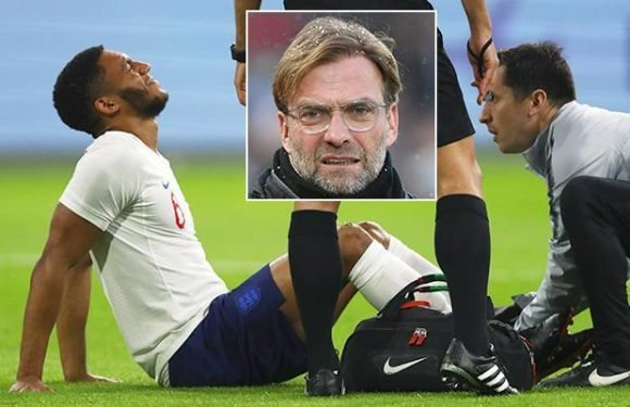 Liverpool sweating on fitness of Joe Gomez as ankle injury forces him to pull out of England squad