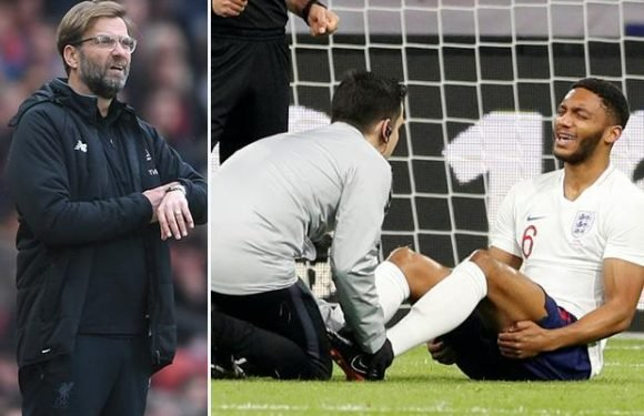 Liverpool star Joe Gomez to miss Manchester City Champions League clashes after picking up injury with England