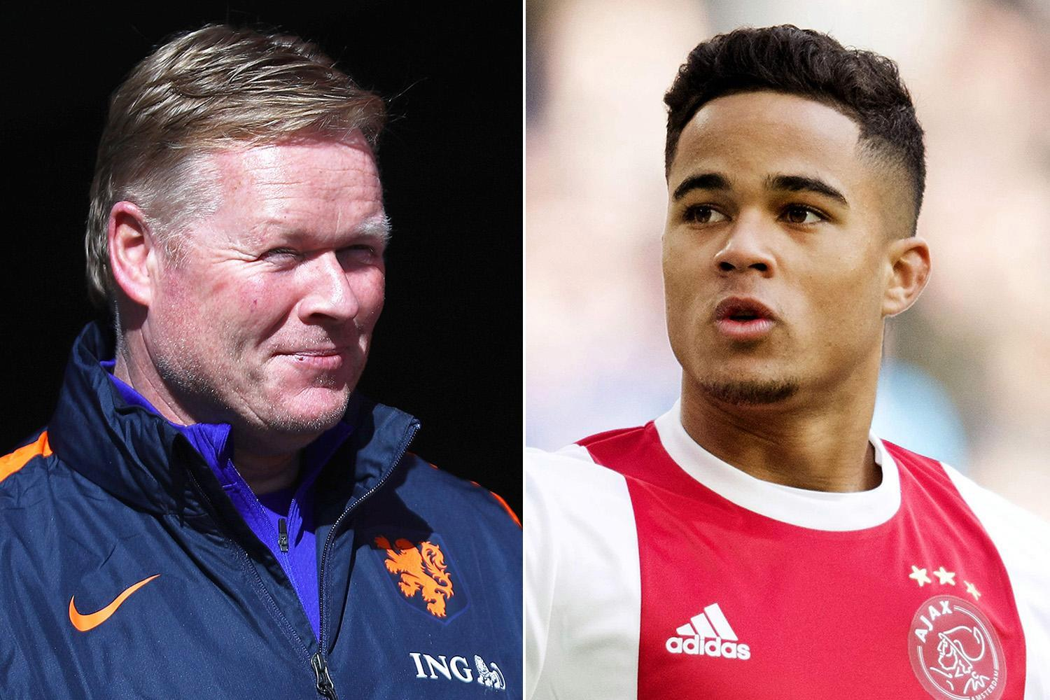 Justin Kluivert should snub Manchester United and stay at Ajax, urges Holland boss Ronald Koeman