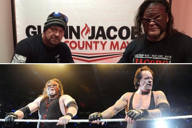 The Undertaker and Kane officially reunite as they are WWE legends are photographed ahead of WrestleMania 34