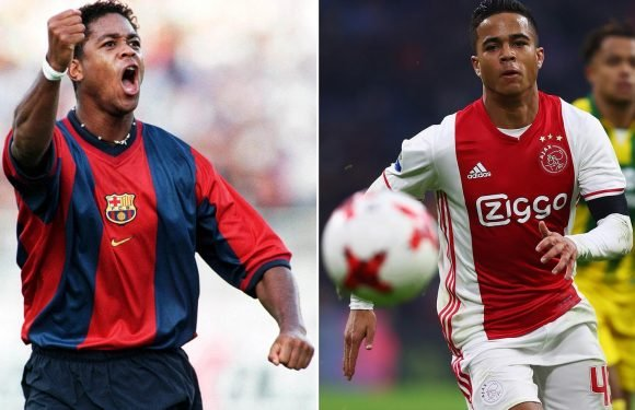 Patrick Kluivert tells son to snub Manchester United and join Barcelona