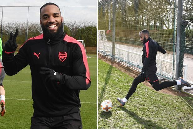 Alexandre Lacazette gives Arsenal huge boost as striker returns to training after knee surgery