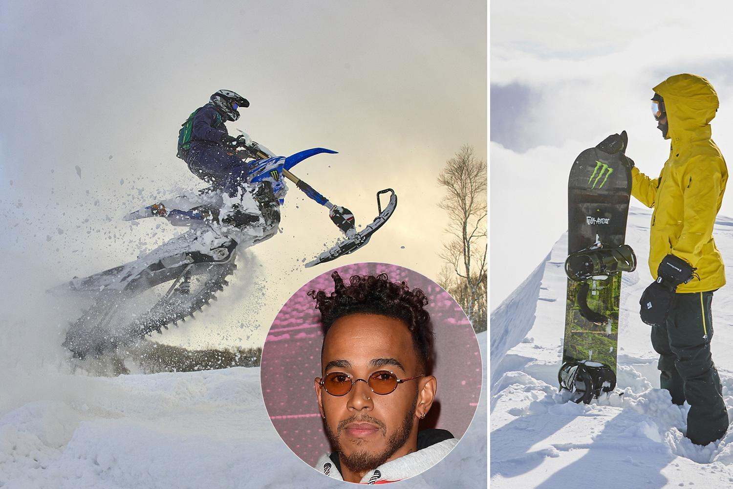 Lewis Hamilton admits he forgot he is a four-time F1 world champ during winter break surfing and snowboarding