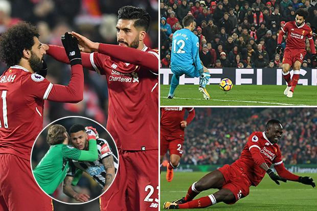 Liverpool 2 Newcastle 0: Mo Salah's 24th Prem goal of the season and Sadio Mane fire Reds second
