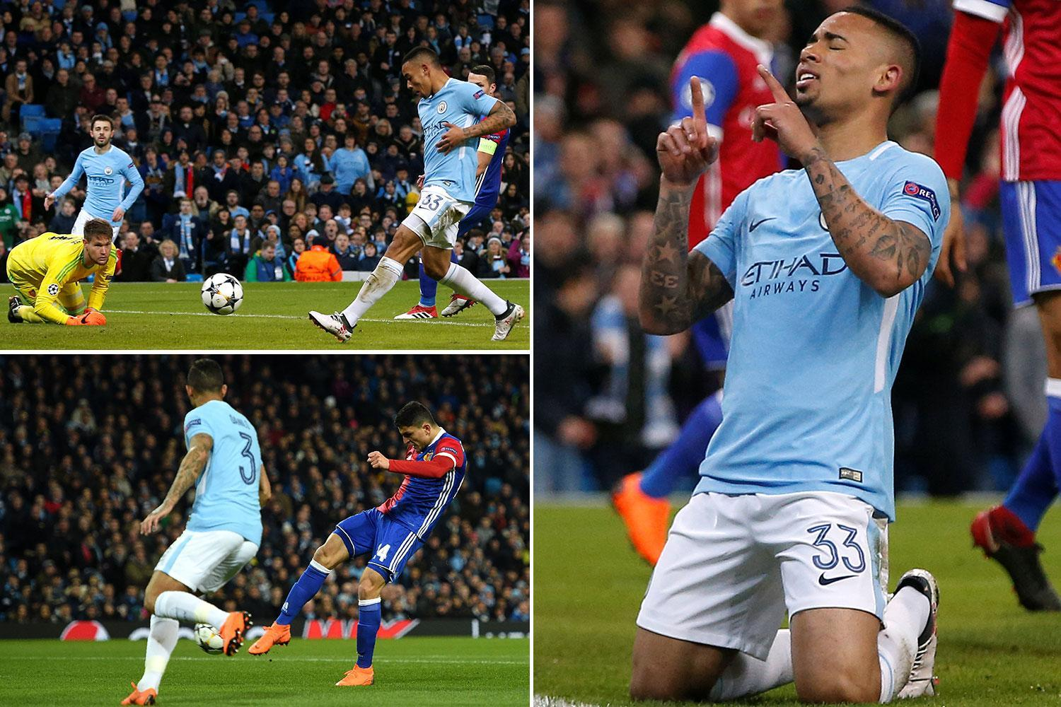 Man City 1 Basel 2 LIVE SCORE: Lang and Elyounoussi score for visitors after Gabriel Jesus first goal since November – latest action from Champions League