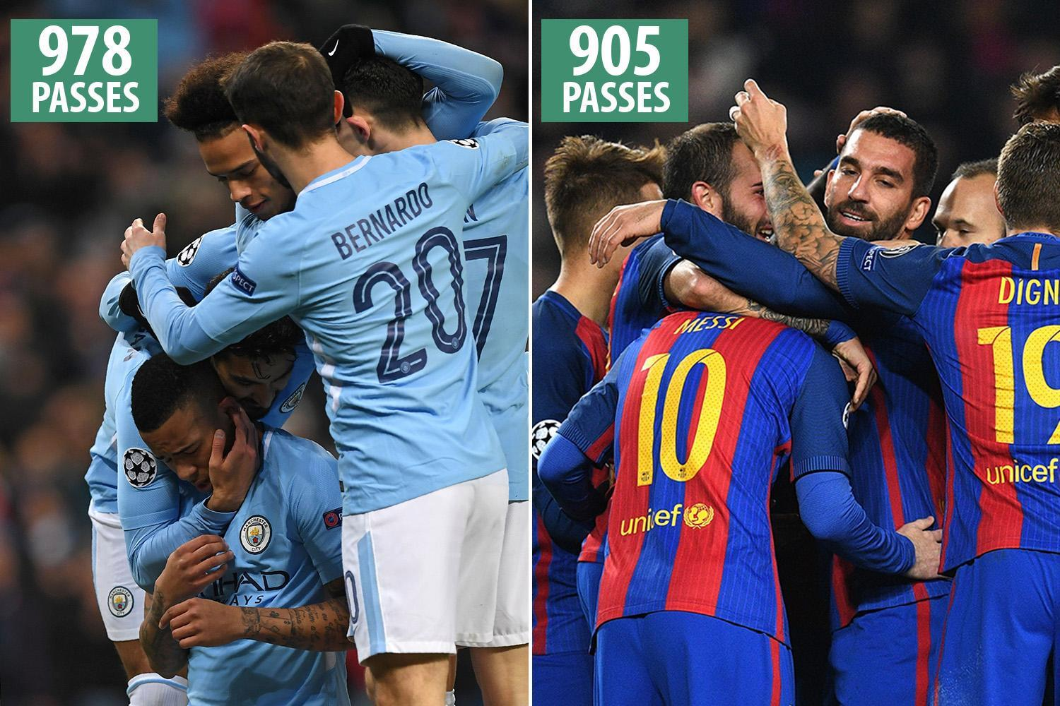 Manchester City shatter the Champions League passing record… just three days after doing so in the Premier League