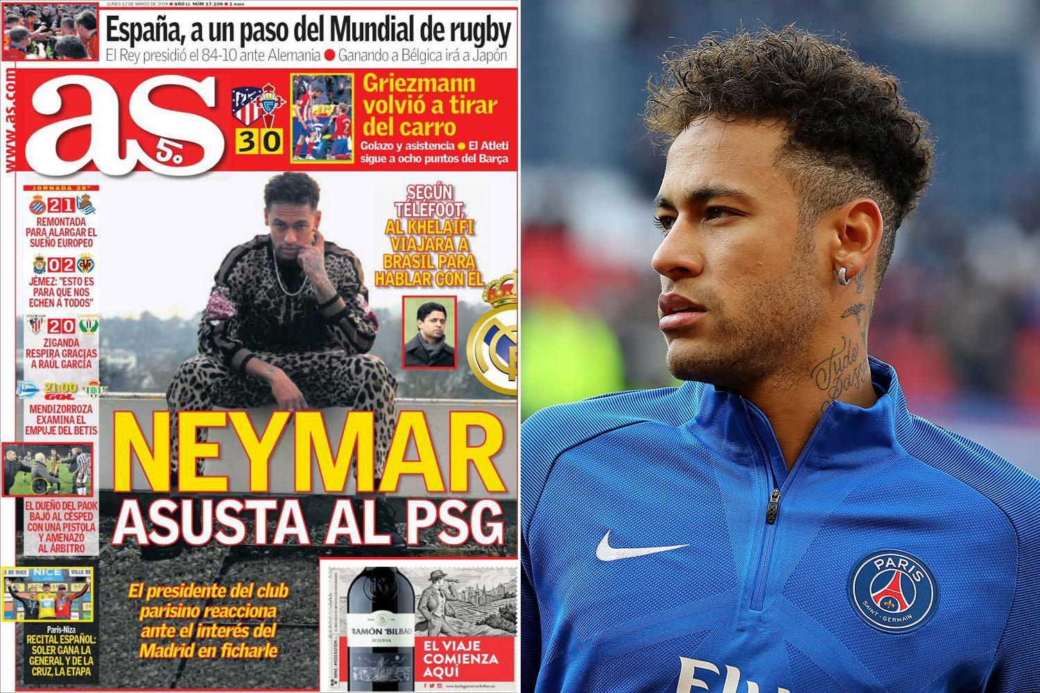 Real Madrid 'meet with Neymar's dad in Paris and are told to bid £355million — as PSG chiefs fly to Brazil for talks with star'
