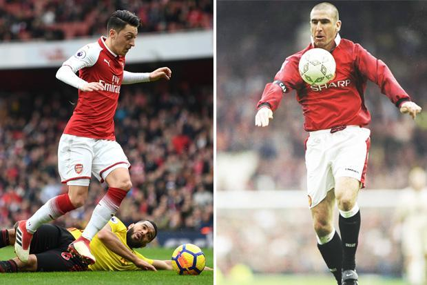 Mesut Ozil breaks Eric Cantona's assist record for Arsenal in game against Watford