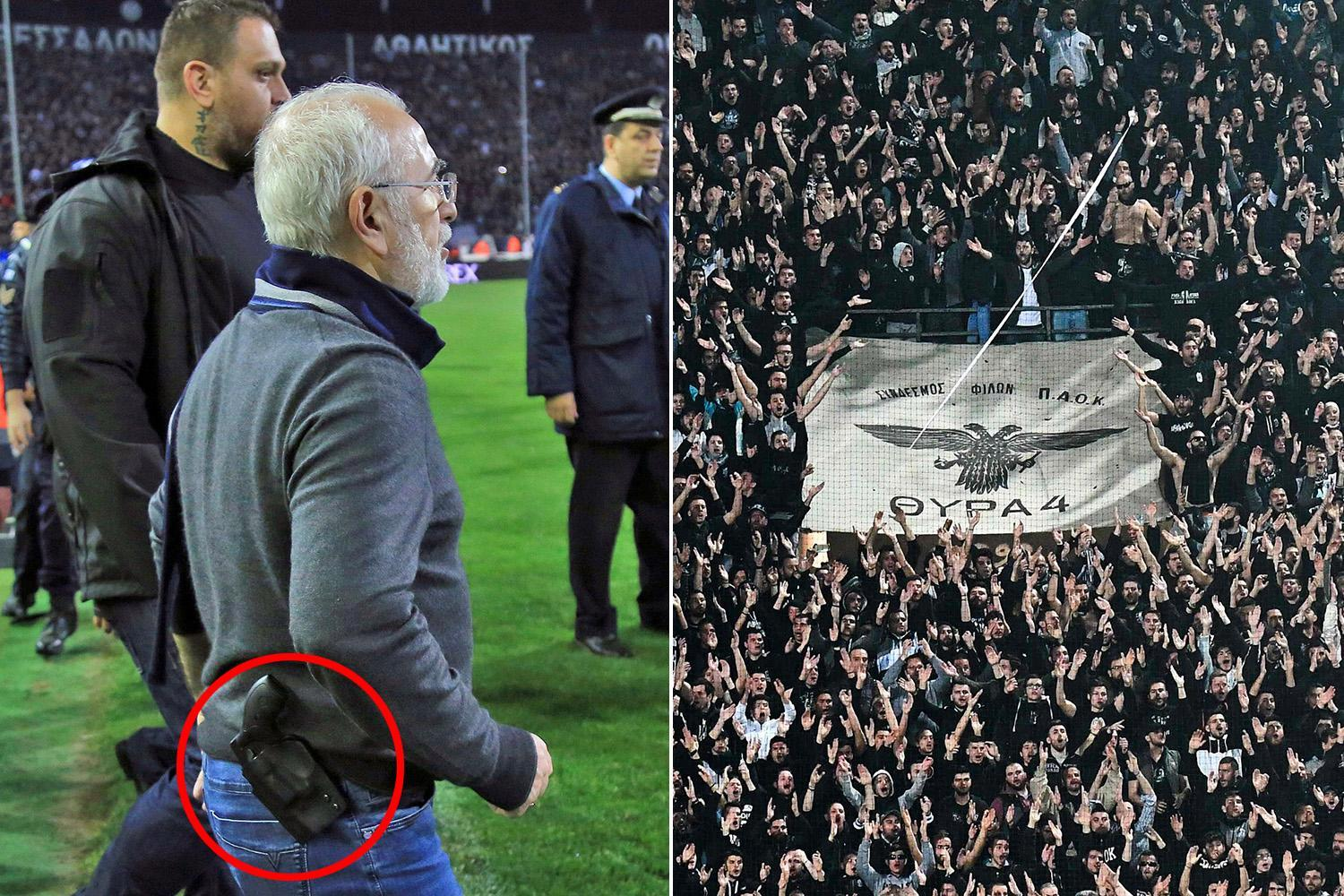 PAOK could be relegated from Greek top flight after crazed owner Ivan Savvidis invaded the pitch appearing to carry a gun.
