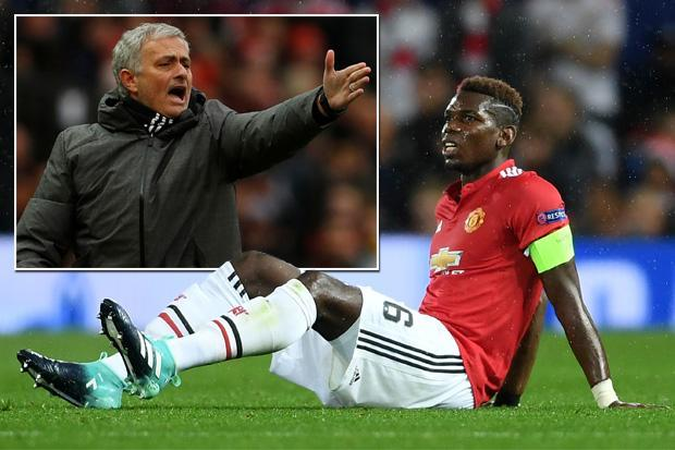 Paul Pogba misses Man United's derby clash against Liverpool as Jose Mourinho makes three changes to starting XI