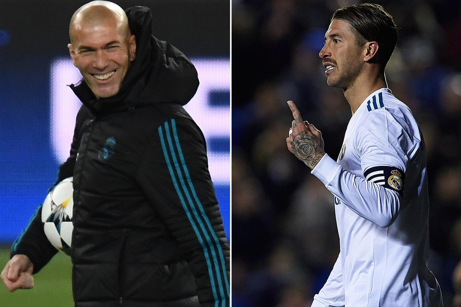 Real Madrid ace Sergio Ramos left pitch during play against Eibar 'to take a s**t', claims Zinedine Zidane