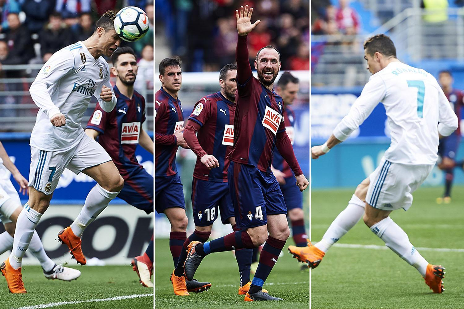 Eibar 1 Real Madrid 2: Cristiano Ronaldo at the double to secure three points for Los Blancos