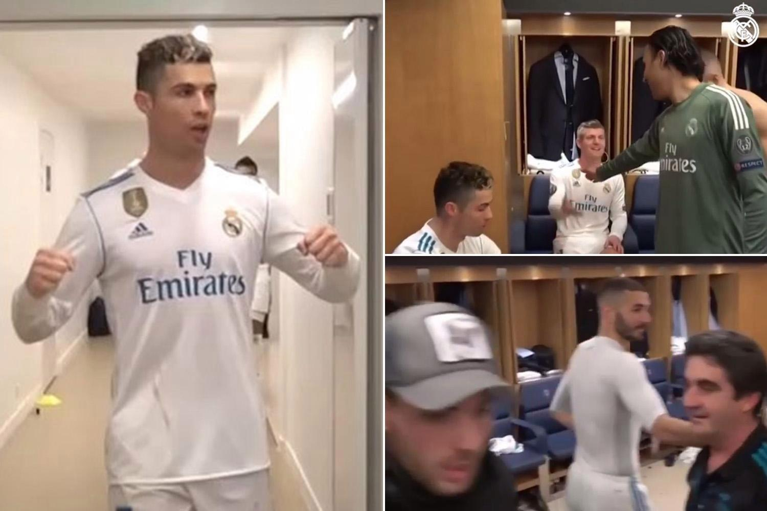 Inside Real Madrid dressing room as Cristiano Ronaldo and stars show support to Zinedine Zidane after PSG victory