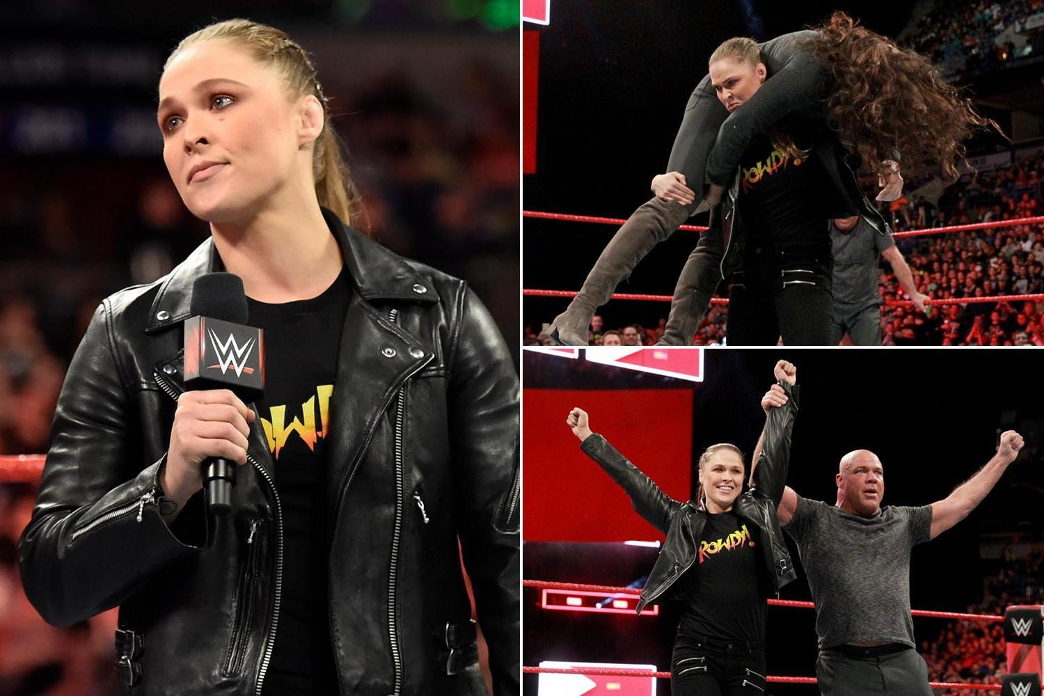 WWE Raw: Ronda Rousey's WrestleMania match confirmed with former UFC star and Kurt Angle to face Triple H and Stephanie McMahon