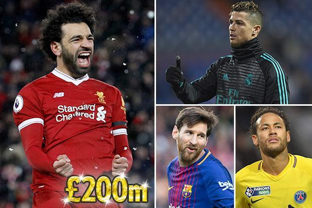 Liverpool star Mo Salah wanted by Real Madrid, Barcelona and PSG in world-record £200m transfer