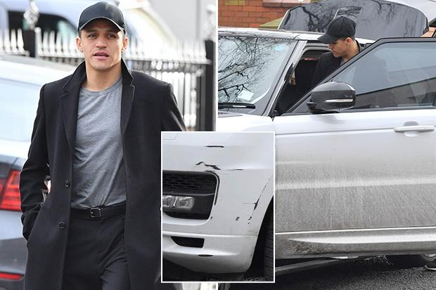 Has Alexis Sanchez lost his drive? Under-fire Manchester United striker returns from restaurant to a smashed-up Range Rover – The Sun