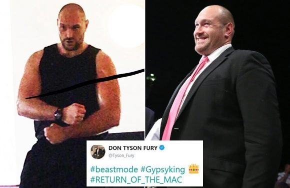 Tyson Fury shows off incredible weight loss as ex-heavyweight champ nears anticipated ring return