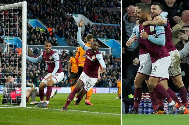 Aston Villa 4 Wolves 1: Steve Bruce's team tear apart Championship leaders to move within four points of automatic promotion places