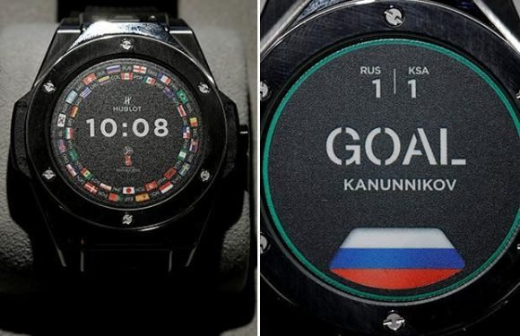 The state-of-the-art £3,700 Hublot watch referees will use in World Cup 2018 to check for VAR goals