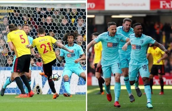 Watford 2 Bournemouth 2: Sub Jermain Defoe rescues Cherries in stoppage-time as they twice come from behind