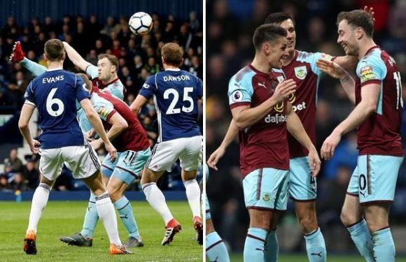 West Brom 1 Burnley 2: Barnes and Wood seal three points for Clarets leaving the Baggies bottom of the table
