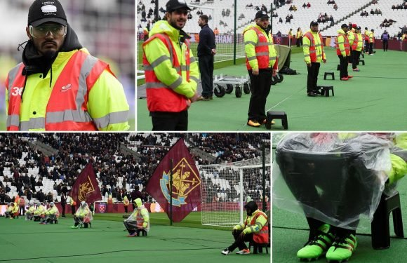 West Ham stewards wear safety goggles and sports shoes vs Southampton as Hammers guard against more uproar