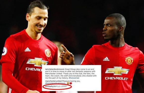 Eric Bailly's amazing farewell to Zlatan Ibrahimovic as he quits Manchester United for MLS