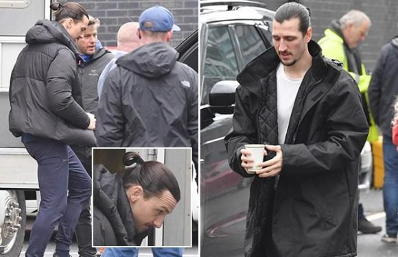 Zlatan Ibrahimovic returns to Manchester to film alongside body double after quitting United last week for MLS