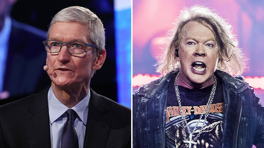 Axl Rose Says Apple's Tim Cook Is the 'Donald Trump of the Music Industry'