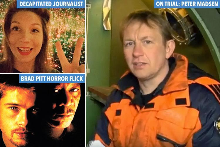 Inventor Peter Madsen 'thought about Brad Pitt horror film Se7en while cutting off journalist Kim Wall's head'
