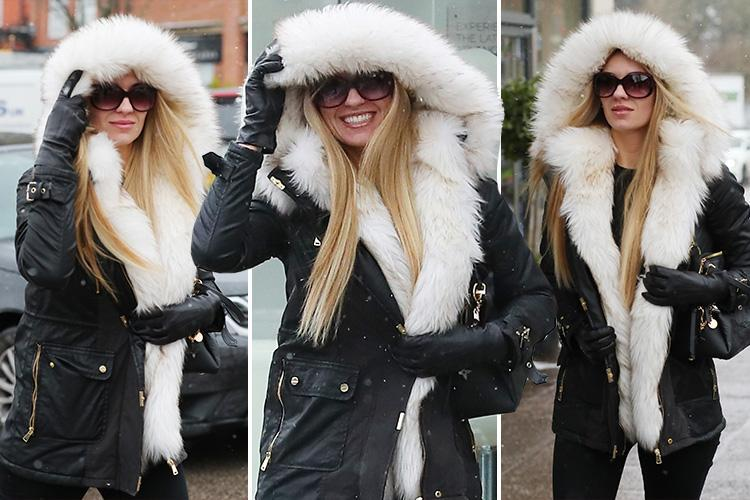 Christine McGuinness is all smiles as she braves the snow after joining The Real Housewives Of Cheshire