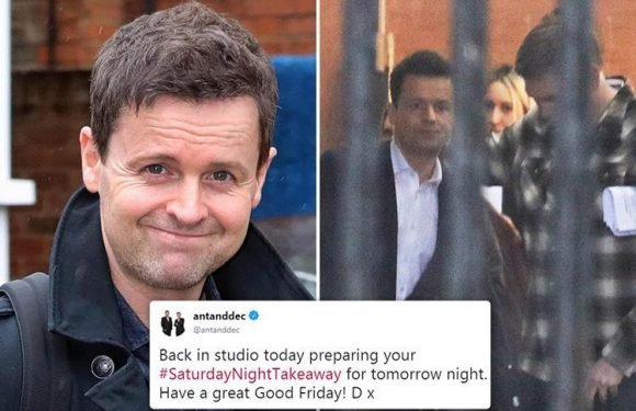 Declan Donnelly looks nervous at rehearsal for first ever Saturday Night Takeaway without Ant McPartlin