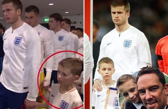 Grieving Simon Thomas hails 'hero' son Ethan as he leads out England at Wembley for Italy game